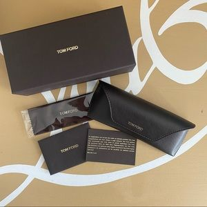 Tom Ford leather glasses soft case